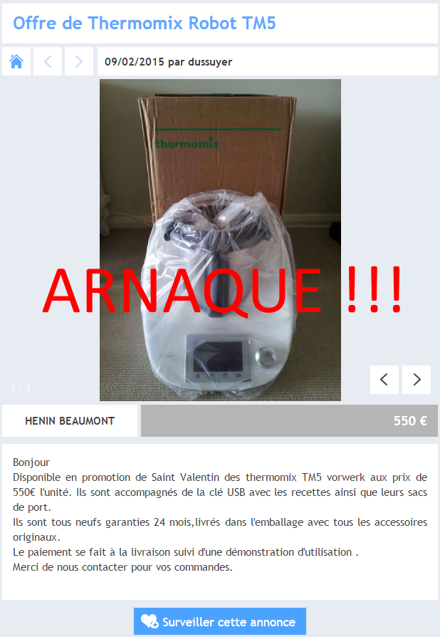 arnaque thermomix